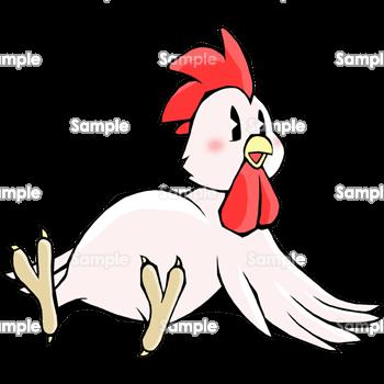 おなかいっぱい満腹鶏 無料イラスト 年賀状プリント決定版 2020