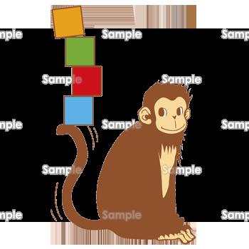 バランス猿 無料イラスト 年賀状プリント決定版 21