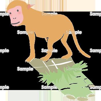 見返り猿 無料イラスト 年賀状プリント決定版 21