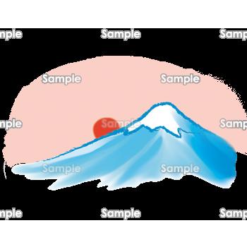 パステル画の富士山 無料イラスト 年賀状プリント決定版 2020