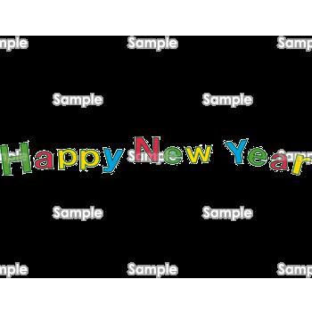 ポップなhappy New Year 無料イラスト 年賀状プリント決定版 2020