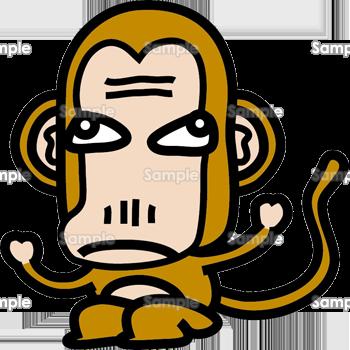 とぼけた猿 | 年賀状 プリント ...
